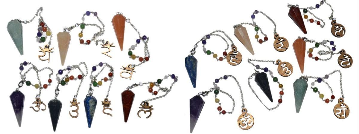 Wholesale 7 Chakra Pendulums : Buy Online Seven Chakra Dowsing Pendulums