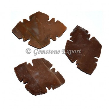 For Side Point Agate Arrowheads