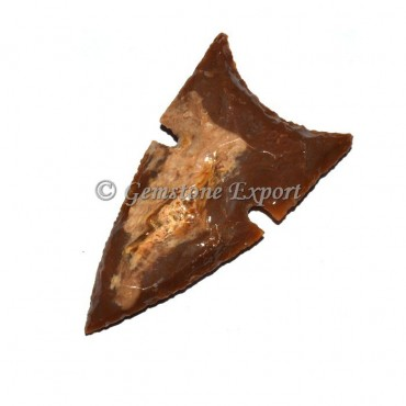 Curved Fancy Jasper Arrowheads