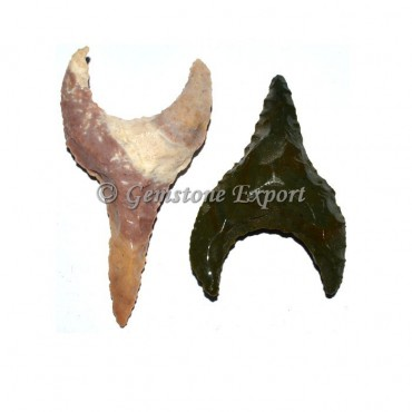 Moon carved Fancy Arrowheads