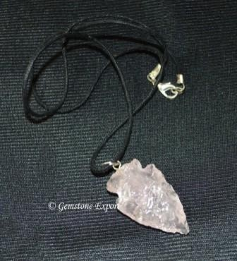 Rose QuartZ Arrowheads Necklace
