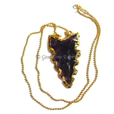 Amethyst Fashion Arrowheads Necklace