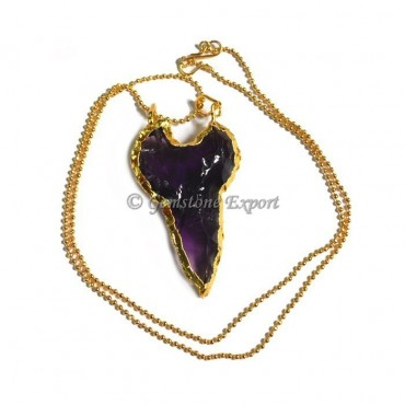 Cazin Glass Arrowheads Necklace