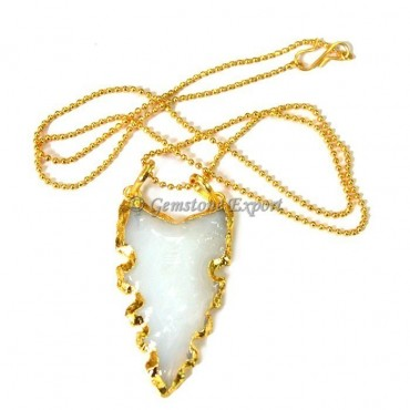 Opalite Edges Arrowheads Necklace