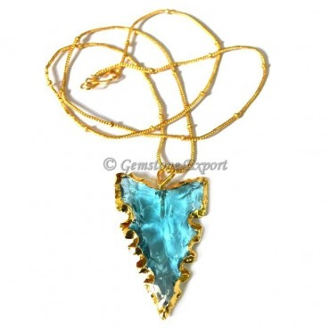 Sky-blue Edges Arrowheads Necklace