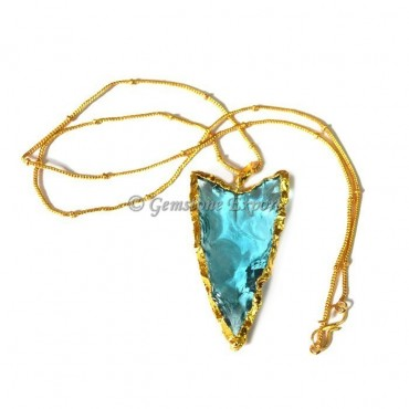 Sky-blue Arrowheads Necklace