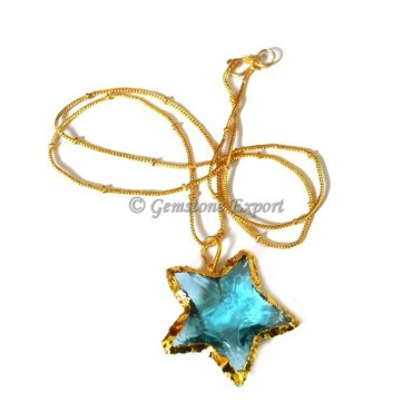 Sky-blue Star Point Necklace