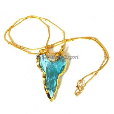Sky-blue Moon Arrowheads Necklace
