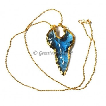 Blue Moon Arrowheads Necklace