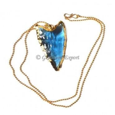 Blue Point Arrow Necklace