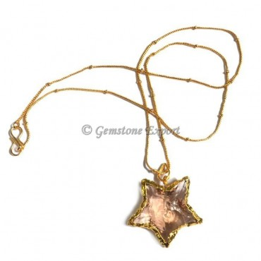 Cream Star Point Necklace