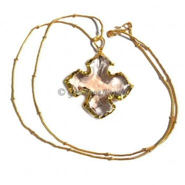 Cream Curved Point Necklace