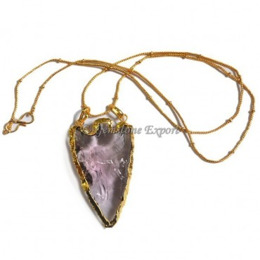 Light Purple Arrowheads Necklace