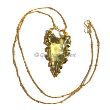 Yellow Point Glass Necklace
