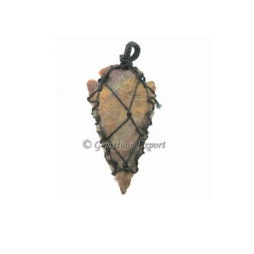 Arrowheads Cord Wrap Pendants