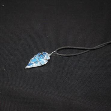 Opalite Arrowheads Wire Warped Pendants