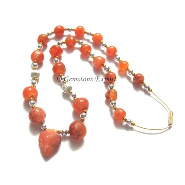 Akik Agate Round Beads Necklace