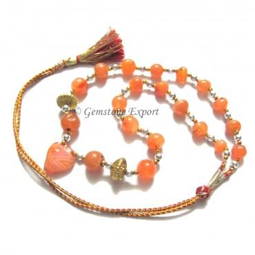 Akik Agate Round Beads Necklce
