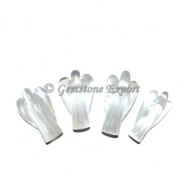 White Selenite Angels 1.50 Inch