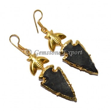 Butterfly Fancy Jasper Arrowheads Earrings