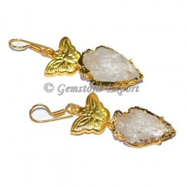 Butterfly Crystal Quartz Arrowheads Earrings