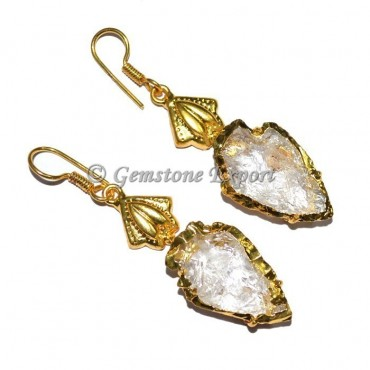 Crystal Quartz Arrowheads Earrings