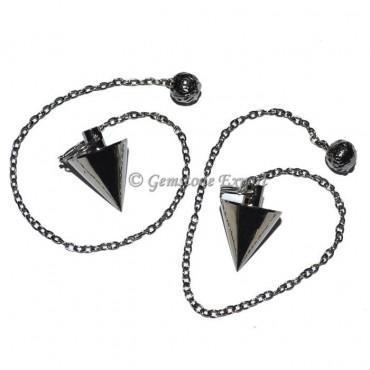 Small Cone Black Metal Pendulums