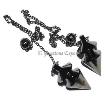 Carved Black Brass Pendulums