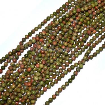 Unakite Round Beads Line