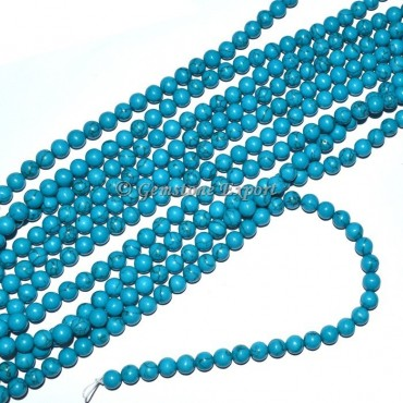 Turquise Round Beads Line