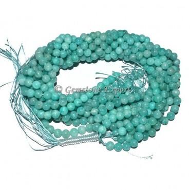Amazonite Agate Round Beads