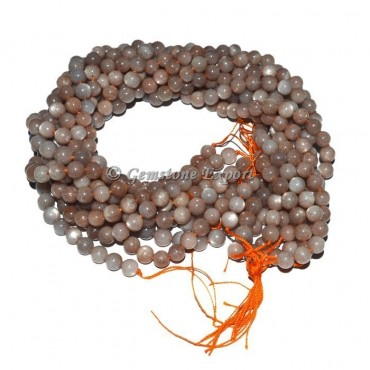 Pink Moon Stone  Beads