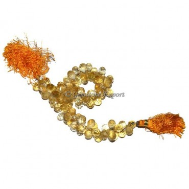 Citrine Drop Faceted Beads