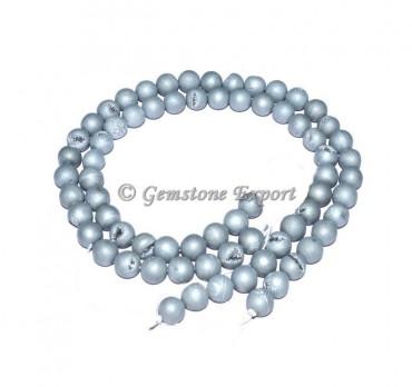 Silver Agate Druzy Fashion Gemstone Beads