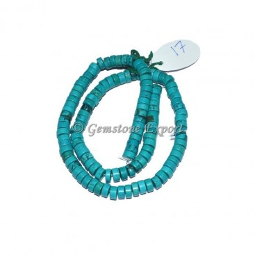 Turquoise Rondelle Agate Beads