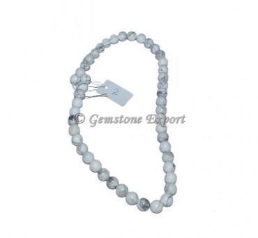 Howlite Agate Beads