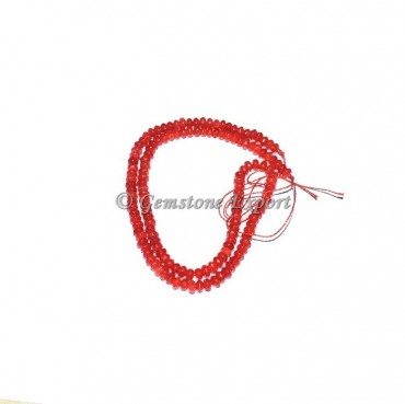 Red Agate Gemstone Beads