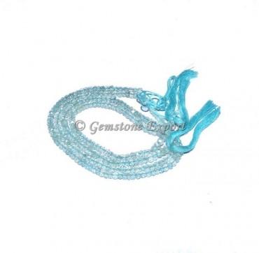 Aqua Marine Faceted Rondelle Agate  Beads