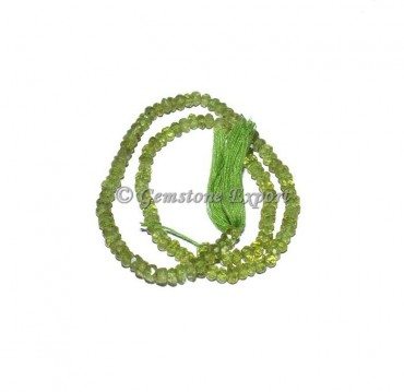 Peridot Faceted Rondelle Gems Beads