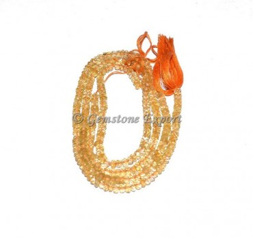 Citrine Faceted Rondelle Gems Beads
