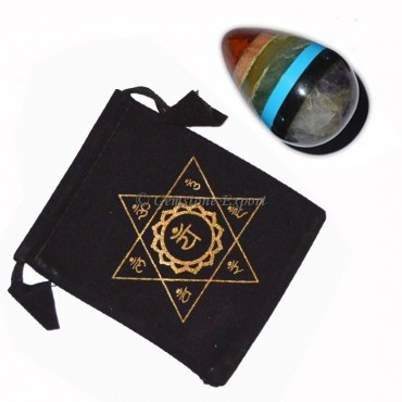 Chakra Bonded Eggs with Printed Pouch