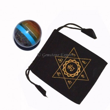 Chakra Bonded Ball with Printed Pouch