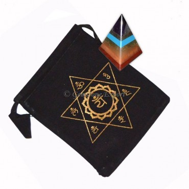 Chakra Bonded Pyramids with Printed Pouch