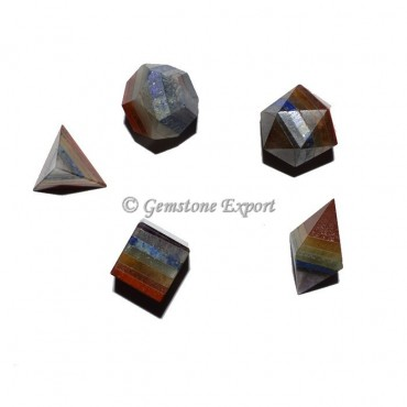 Seven Chakra Bonded Scared Geometry Set