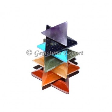 Seven Chakra Bonded Triangle Pyramids Tower