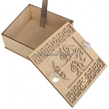 Seven Chakra Box With Tree And Crystal Quartz Stone