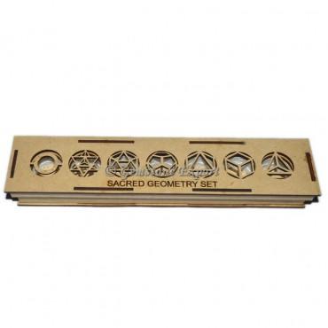 7 Chakra Symbol Geometry MDF Box