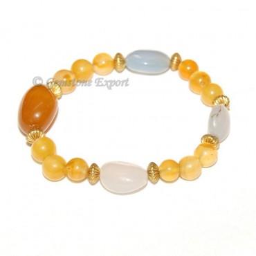 Yellow & Chalcedony Onyx Bracelet