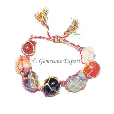 Mix Agate Tumbled Stones Bracelet
