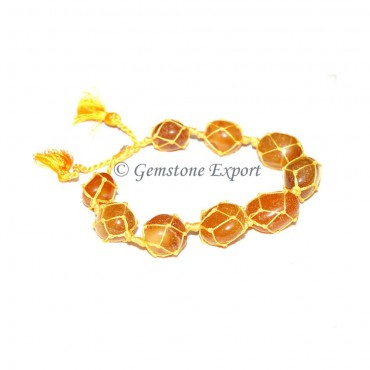 Yellow Onyx Tumbled Stones Bracelet